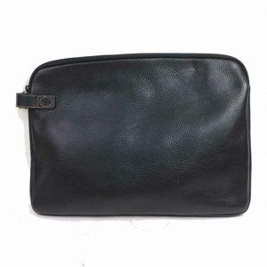 Auth Gucci Business Bag Black Leather #N7959C07